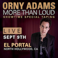 Orny Adams - LIVE COMEDY TAPING