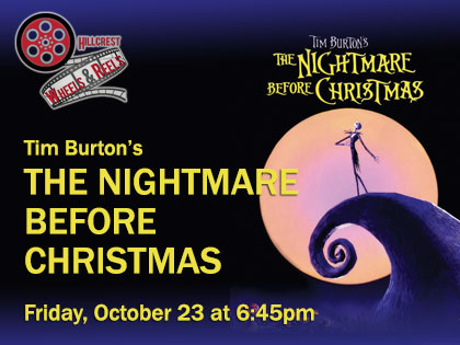Tim Burton's Nightmare Before Christmas: Wheels and Reels, Film Screening from your Car!