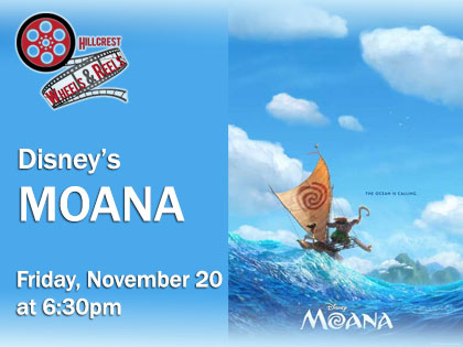 Disney's Moana: Wheels and Reels Film Screening from your Car!