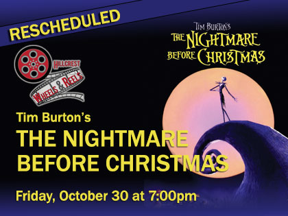 Rescheduled: Tim Burton's Nightmare Before Christmas Wheels and Reels Screen from Your Car