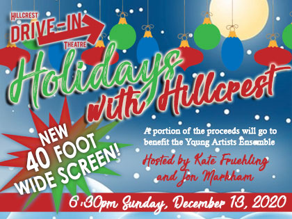 Holidays with Hillcrest: Drive-In Concert - 6:30pm Sunday, Dec 13 ,2020