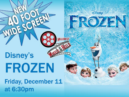Disney's Frozen: Wheels and Reels Film Screening from your Car! 6:30pm, Friday Dec 11, 2020